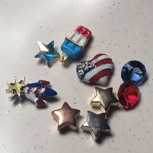 Origami Owl Patriotic charms